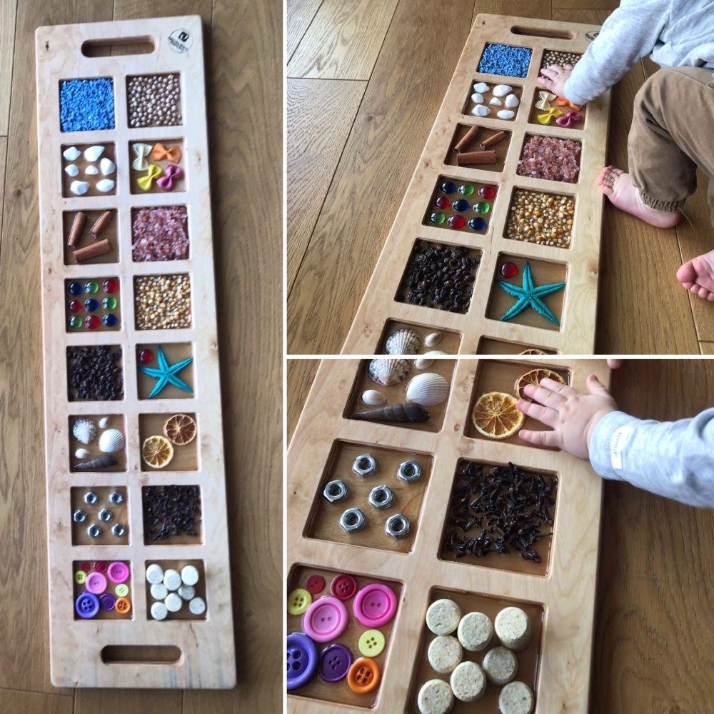 Panele sensoryczne- idealna zabawa dla Małych Odkrywców