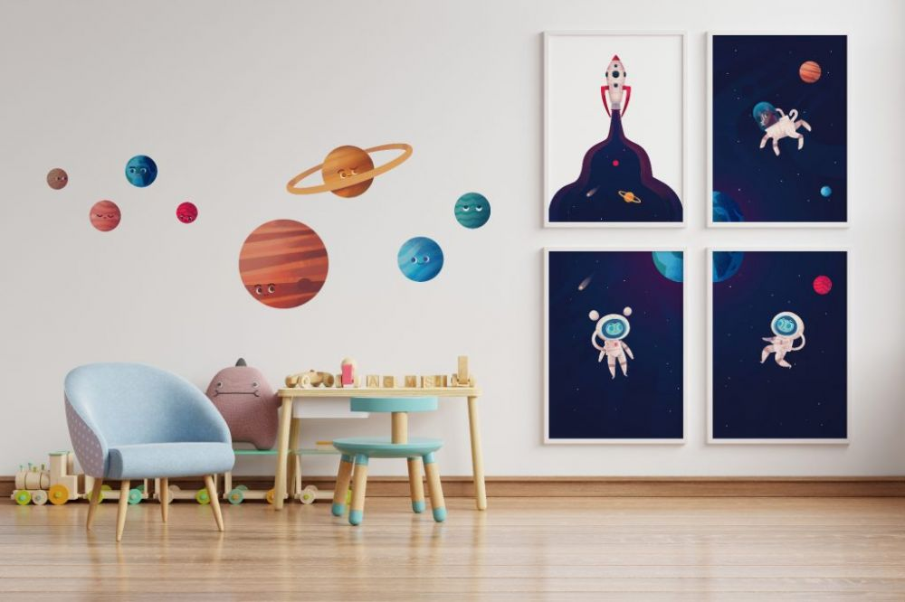 Plakaty i naklejki, które odmienią pokój Twojego dziecka