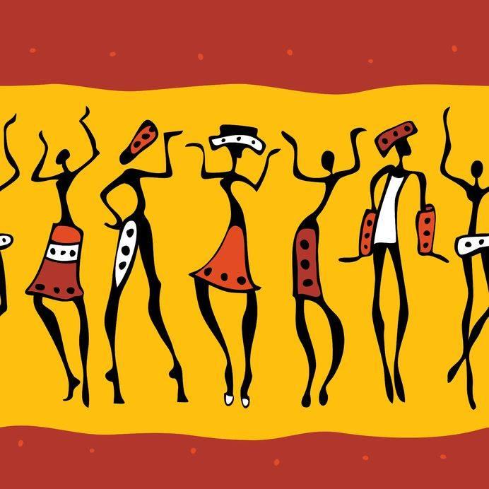 Afrykański taniec dla kobiet z niemowlętami