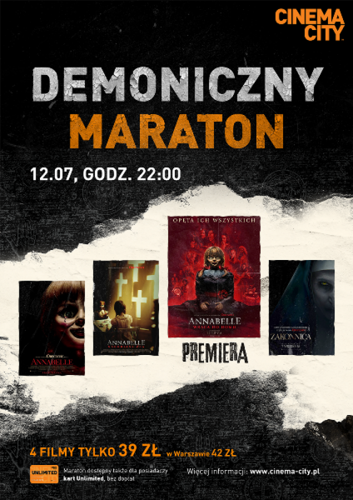 Demoniczny maraton z Annabelle w Cinema City!