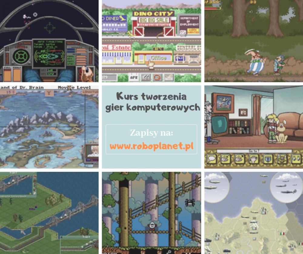Kurs tworzenia gier komputerowych online dla początkujących
