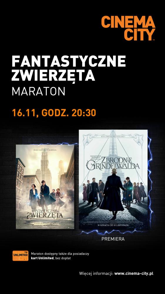 """Maraton """"Fantastycznych Zwierząt"""" w Cinema City!"""