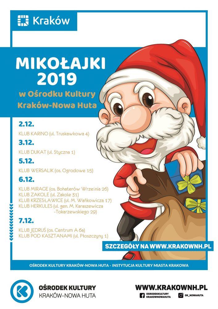 Mikołajki 2019 w Ośrodku Kultury Kraków-Nowa Huta