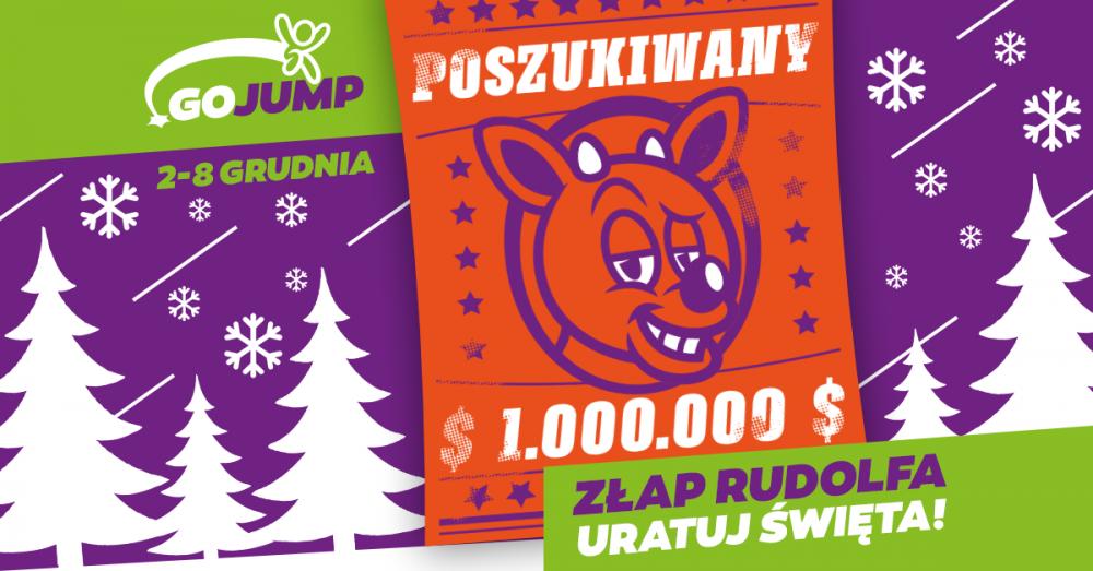Event Mikołajkowy GOjump - Złap Rudolfa i uratuj Święta!