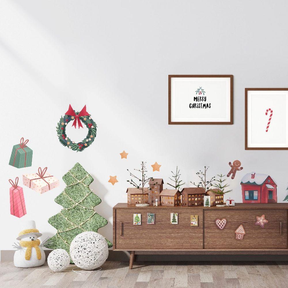 Na ścianę, na szybę, na szafę… na święta - zestaw świątecznych naklejek od Happilu