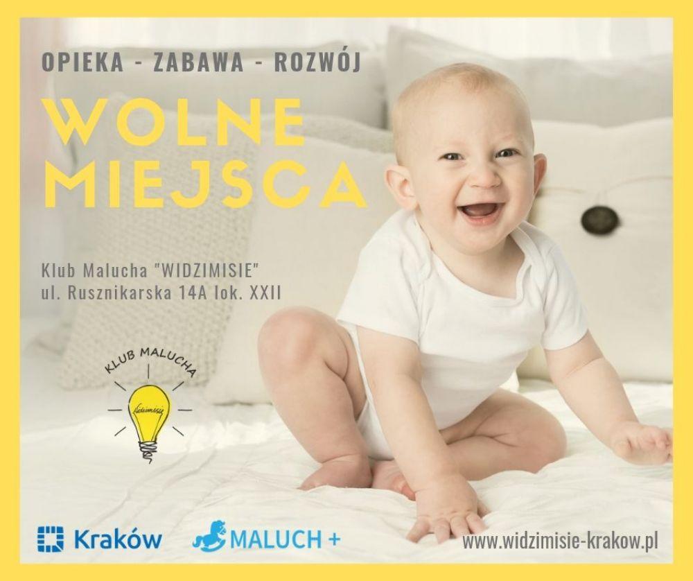 """Wolne miejsca w Klubi Malucha """"Widzimisię"""""""