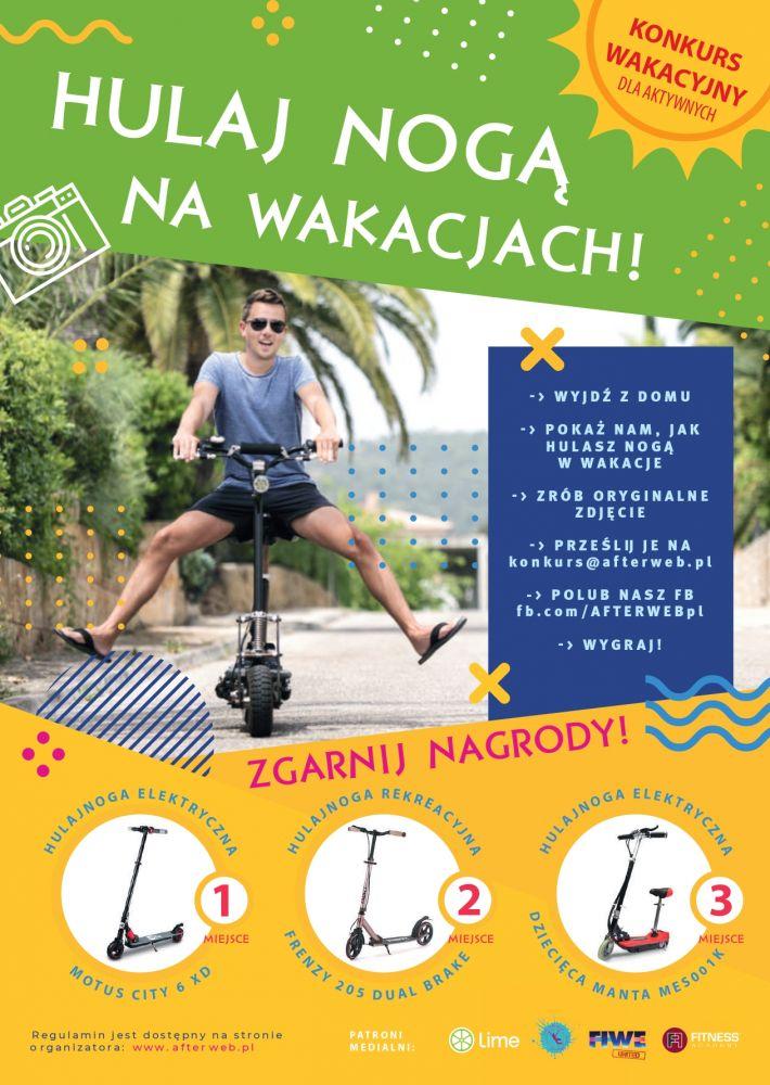 Wystartuj w konkursie HulajNogą na Wakacjach i wygraj hulajnogę elektryczną!