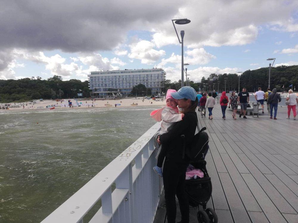 Pierwsze wakacje nad morzem w Dźwirzynie