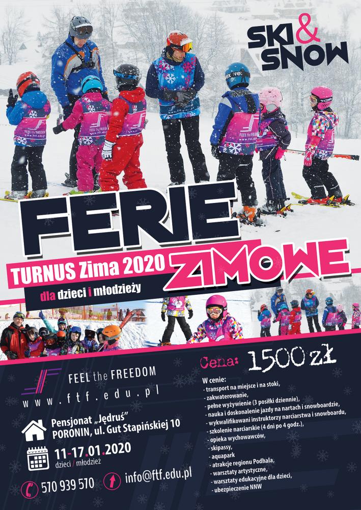 Ferie zimowe z Feel the Freedom dla dzieci i młodzieży- TURNUS I